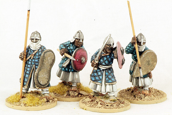 MOR03 Nubian Spearmen (Padded Coats) (4)
