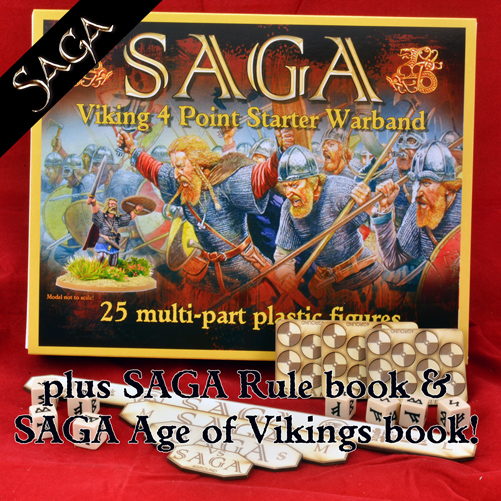 NEW EDITION SAGA Starter - Plastic Vikings (inc FREE Measuring Sticks & Fatigue Markers)