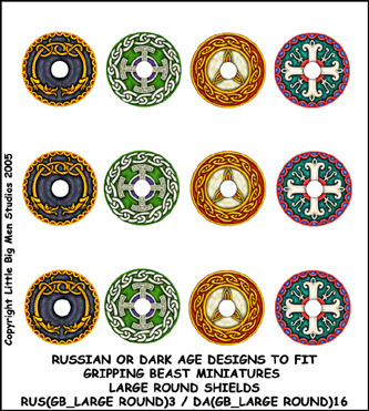 RUS(GB_LARGE ROUND)3 Russian Shield (Large Dark Age Round)