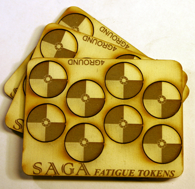 SAGA Fatigue Tokens - Round Shields