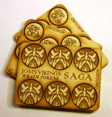 SAGA Jomsviking Wrath & Fatigue Tokens