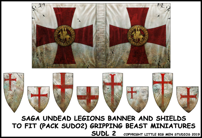 SUDL 2 Undead Legions Banner & Shields 2