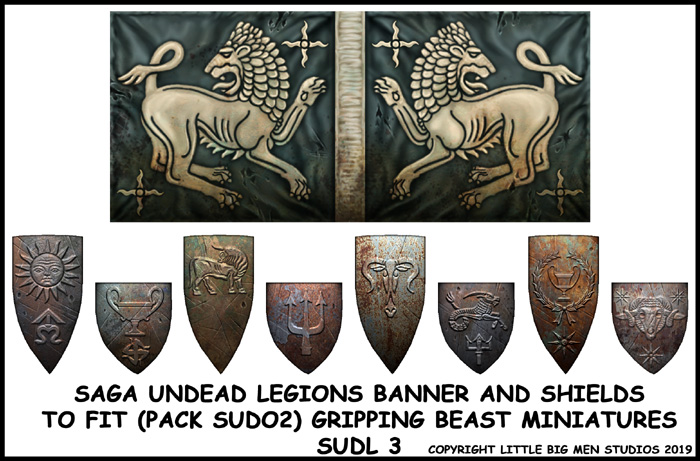SUDL 3 Undead Legions Banner & Shields 3