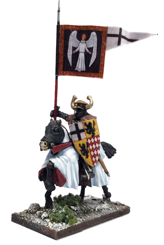 SWBB15 Mounted Ordensstaat / Teutonic War Banner Bearer